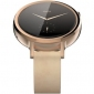 Смарт часы Motorola Moto 360 2nd Generation Smartwatch 42mm Stainless Steel with Rose Gold Leather Strap 8