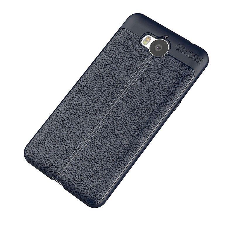 Купить Накладка TPU Leather AF Back Cover Huawei Y5 (2017) Blue, Other