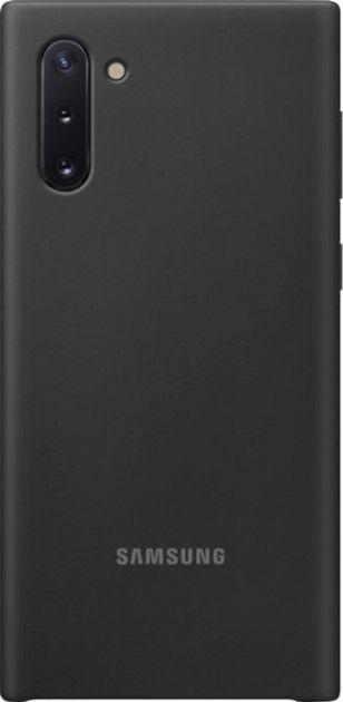 Накладка Samsung Silicone Cover для Samsung Galaxy Note 10 (EF-PN970TBEGRU) Black от Територія твоєї техніки