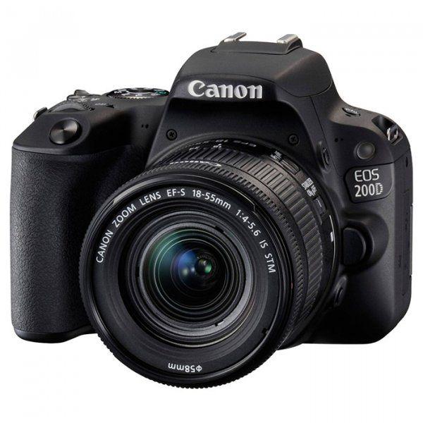 Купить Фотоаппарат Canon EOS 200D Kit 18-55 IS STM Black (2250C017)