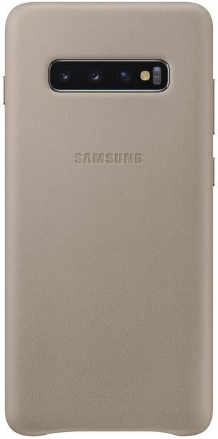 Панель Samsung Leather Cover для Samsung Galaxy S10 Plus (EF-VG975LJEGRU) Gray от Територія твоєї техніки