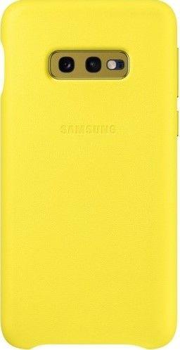 Панель Samsung Leather Cover для Samsung Galaxy S10e (EF-VG970LYEGRU) Yellow от Територія твоєї техніки