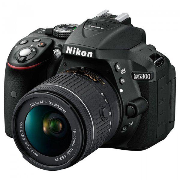 Купить Фотоаппарат Nikon D5300 + AF-P 18-55mm VR Black Kit (VBA370K007)