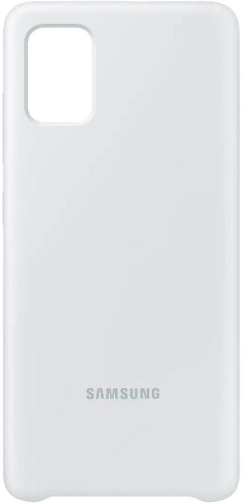 Накладка Samsung Silicone Cover для Samsung Galaxy A51/А515 (EF-PA515TWEGRU) White