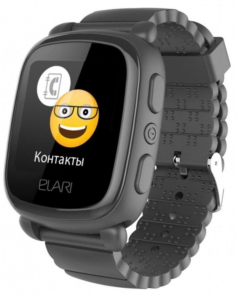 Смарт часы, Детский телефон-часы Elari KidPhone 2 Black (KP-2B)  - купить со скидкой