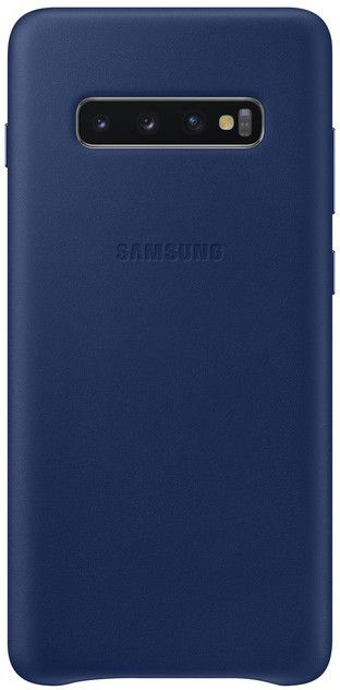 Панель Samsung Leather Cover для Samsung Galaxy S10 Plus (EF-VG975LNEGRU) Navy от Територія твоєї техніки