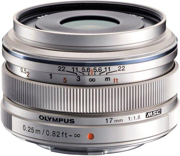 Купить Объектив Olympus M.Zuiko Digital EW-M1718 17mm 1:1.8 Silver (V311050SE000)