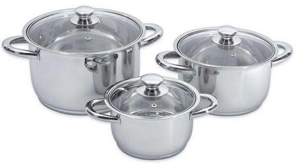 Купить Наборы посуды для приготовления пищи, Набор посуды BergHOFF Vision Premium из 6 предметов (1106030)