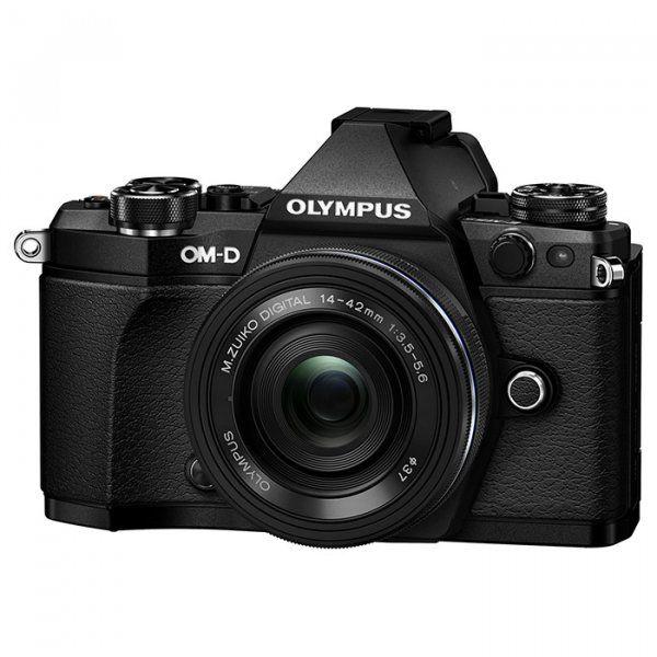 Купить Фотоаппарат Olympus E-M5 Mark II Pancake Zoom 14-42 Kit Black-Black (V207044BE000)