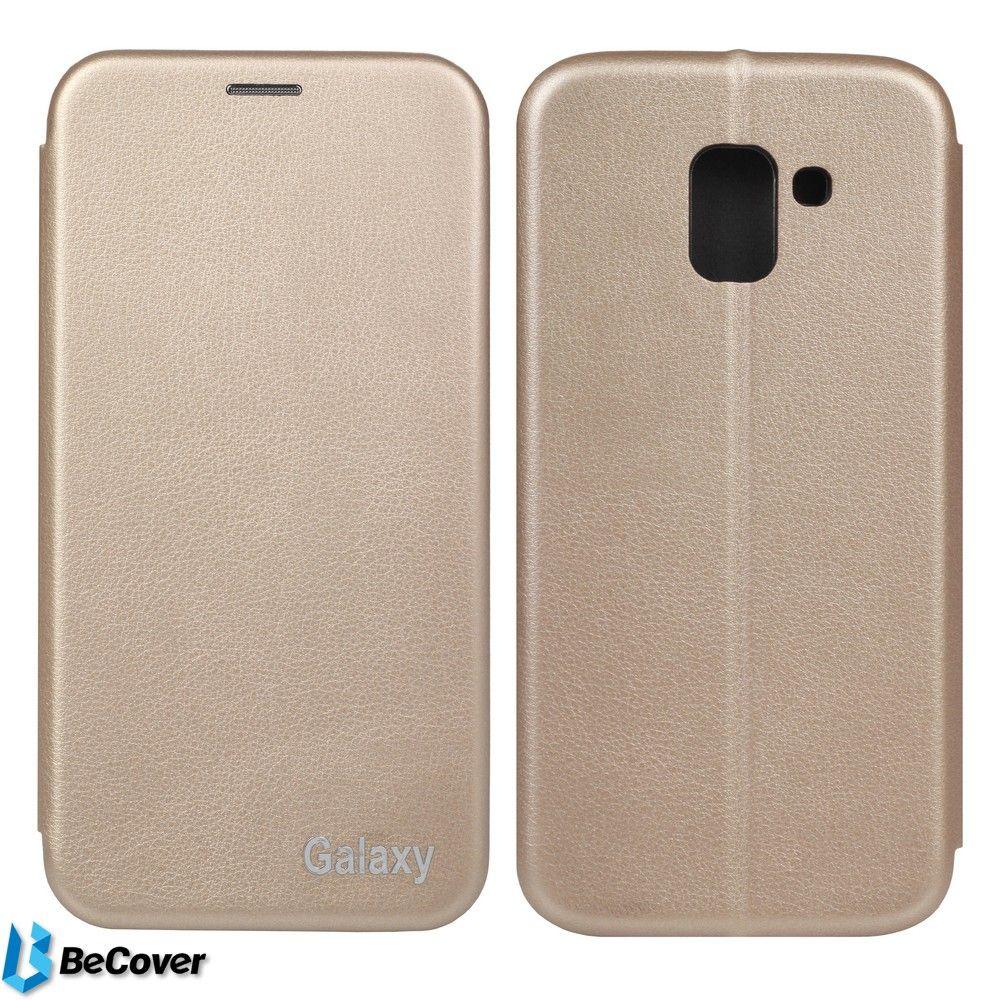 Купить Чехлы для мобильных телефонов, Чехол-книжка BeCover Exclusive для Samsung Galaxy J6 2018 SM-J600 (702518) Gold