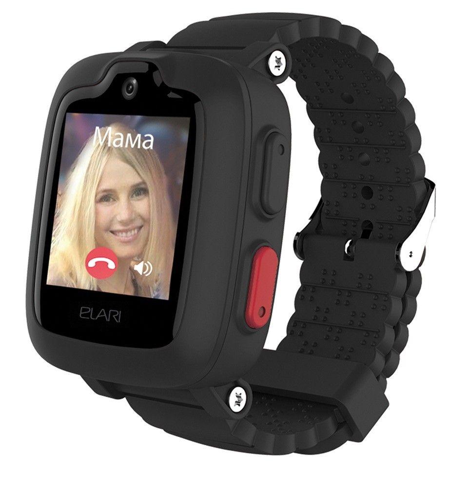 Купить Смарт часы, Детские телефон-часы с GPS трекером Elari KidPhone 3G (KP-3GB) Black