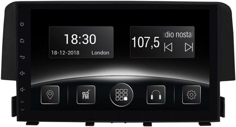 Купить Автомагнитолы, Автомагнитола штатная Gazer CM5509-FB4 для Honda Civic (FB4) 2016-2017
