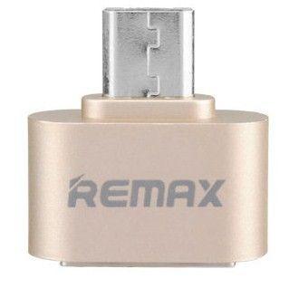 Купить Кабели синхронизации, Адаптер Remax RA-OTG USB 2.0/micro USB Gold