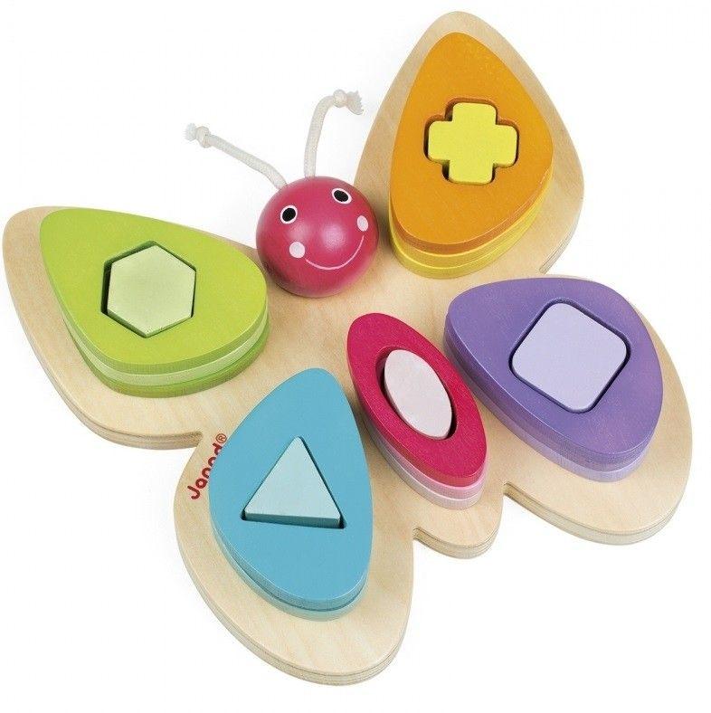 Купить Игрушки для малышей, Сортер Janod Бабочка (J05341)