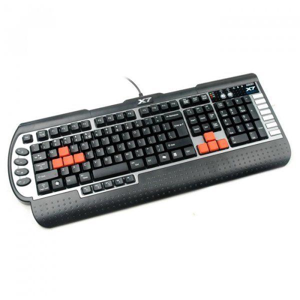 Купить Клавиатуры, Клавиатура A4Tech X7 G800MU PS/2 (4711421746816) Black/Silver