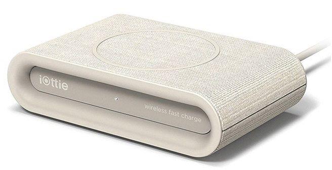 Купить Зарядные устройства, Беспроводное зарядное устройство iOttie iON Wireless Fast Charging Pad Plus Tan (CHWRIO105TN) Ivory