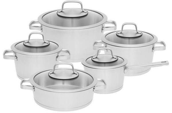 Купить Наборы посуды для приготовления пищи, Набор посуды BergHOFF Essentials Manhattan из 10 предметов (1110005)