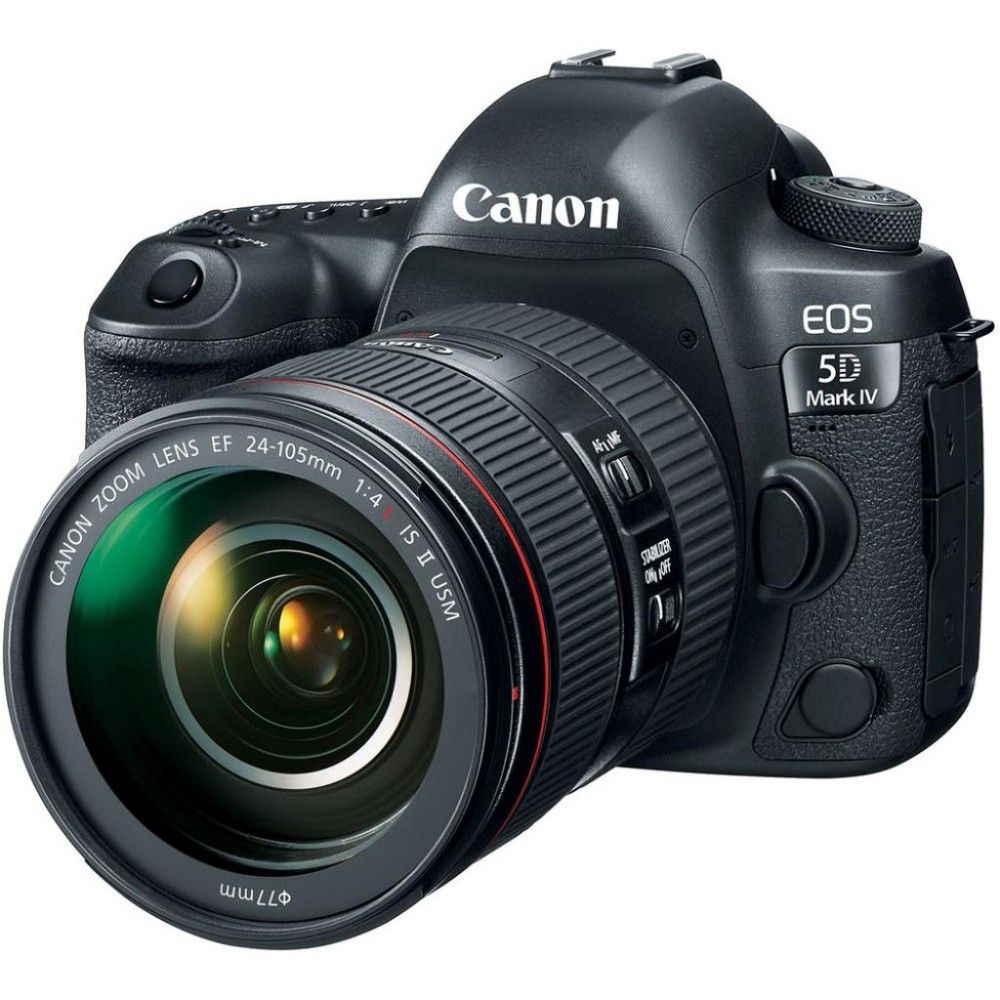 Купить Фотоаппарат Canon EOS 5D Mark IV 24-105 L IS II USM Kit Black (1483C030)