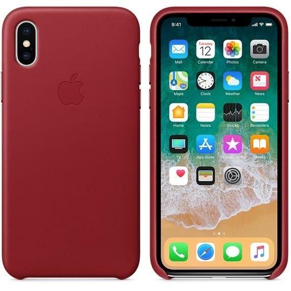 Купить Накладка Leather Case Iphone X Red, Other