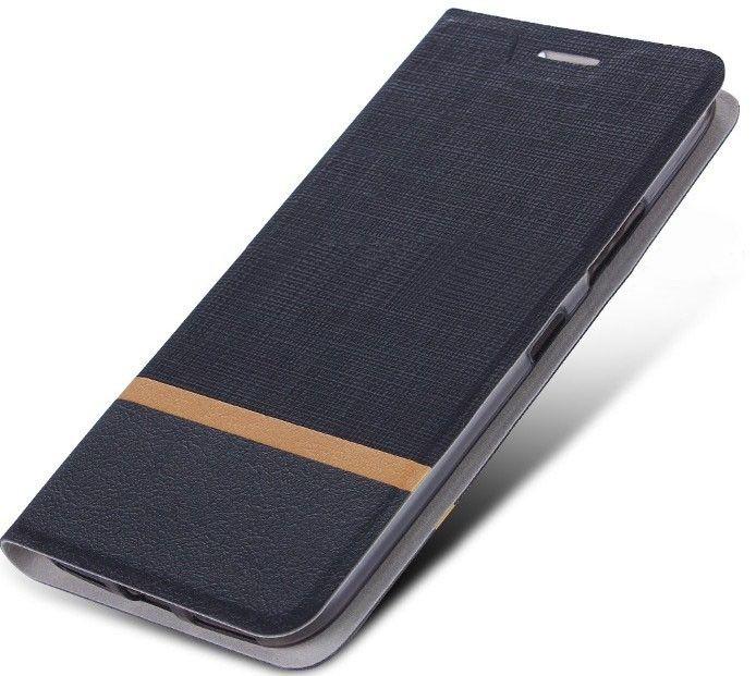 Купить Чехол Book Cover Leather LG Q6 Canvas Black