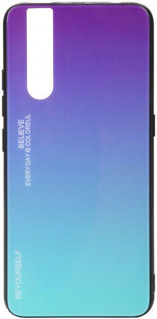 Купить Чехлы для мобильных телефонов, Панель BeCover Gradient Glass для Vivo V15 Pro (704037) Purple-Blue