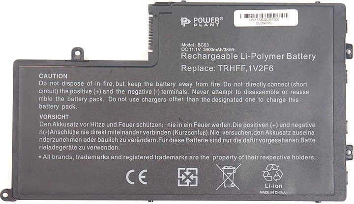 Акция на Акумулятор PowerPlant для DELL Inspiron 15-5547 Series (TRHFF, DL5547PC) 11.1V 3400mAh  (NB440580) от Територія твоєї техніки