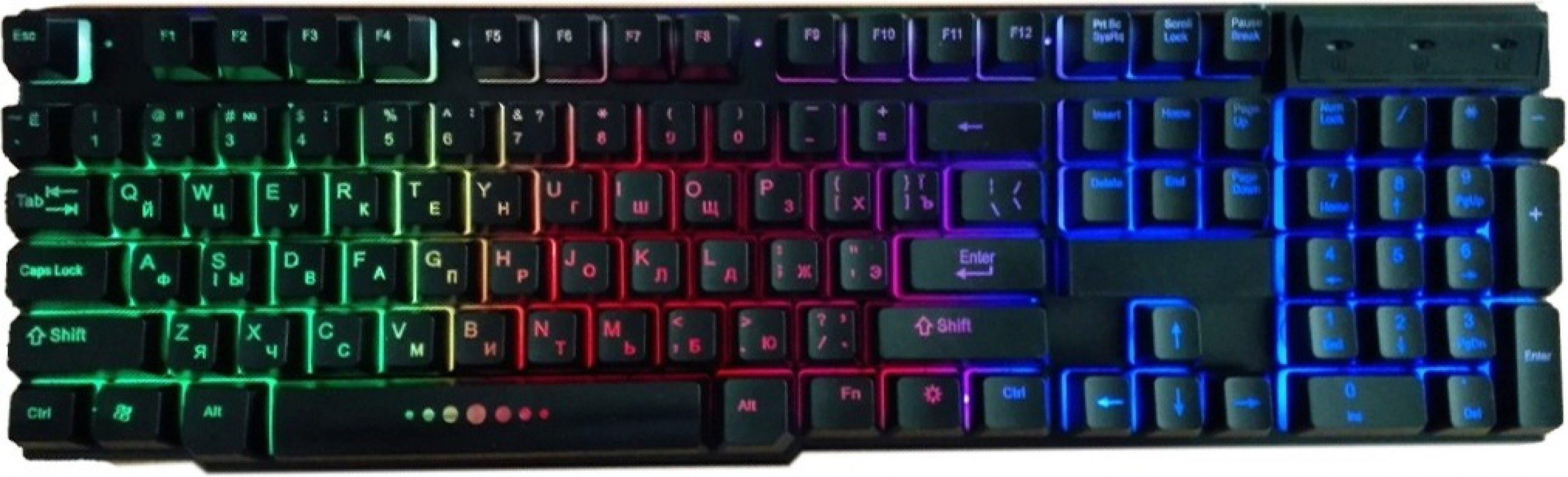 Купить Клавиатура проводная GameMax K207-R USB Black