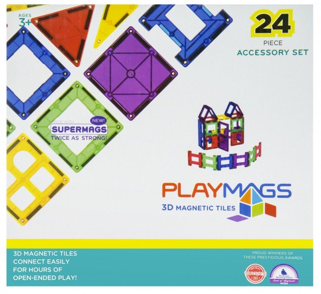 Купить Конструкторы, Магнитный конструктор Playmags 24 элементов (PM162)