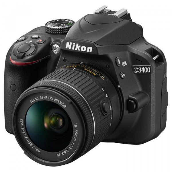 Купить Фотоаппарат Nikon D3400 AF-P 18-55mm f/3.5-5.6G VR Kit Black (VBA490K001)