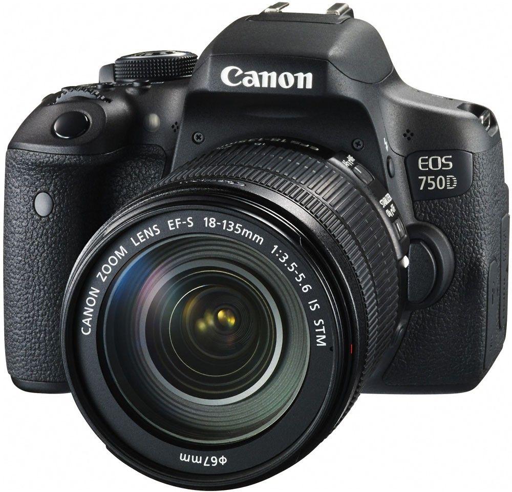 Купить Фотоаппарат Canon EOS 750D EF-S 18-135mm IS STM Kit (0592C034)