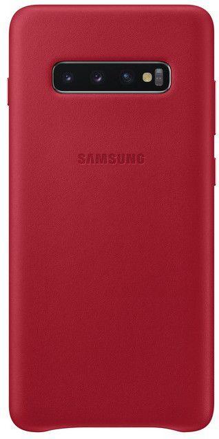 Панель Samsung Leather Cover для Samsung Galaxy S10 Plus (EF-VG975LREGRU) Red от Територія твоєї техніки