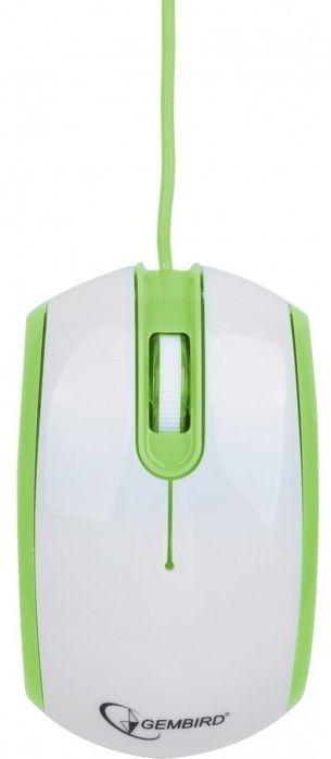 Купить Мыши, Мышь Gembird MUS-105-G USB White/Green