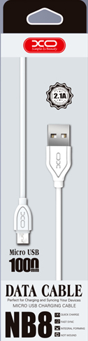 Кабель USB XO NB8 lightning 1m 2.1A White