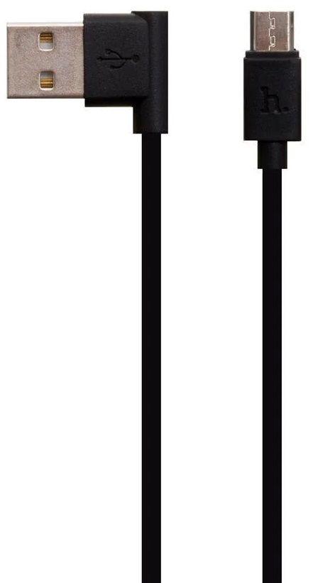 Кабели синхронизации, Кабель Hoco UPL10 USB MicroUSB L Shape 1.2m Black  - купить со скидкой