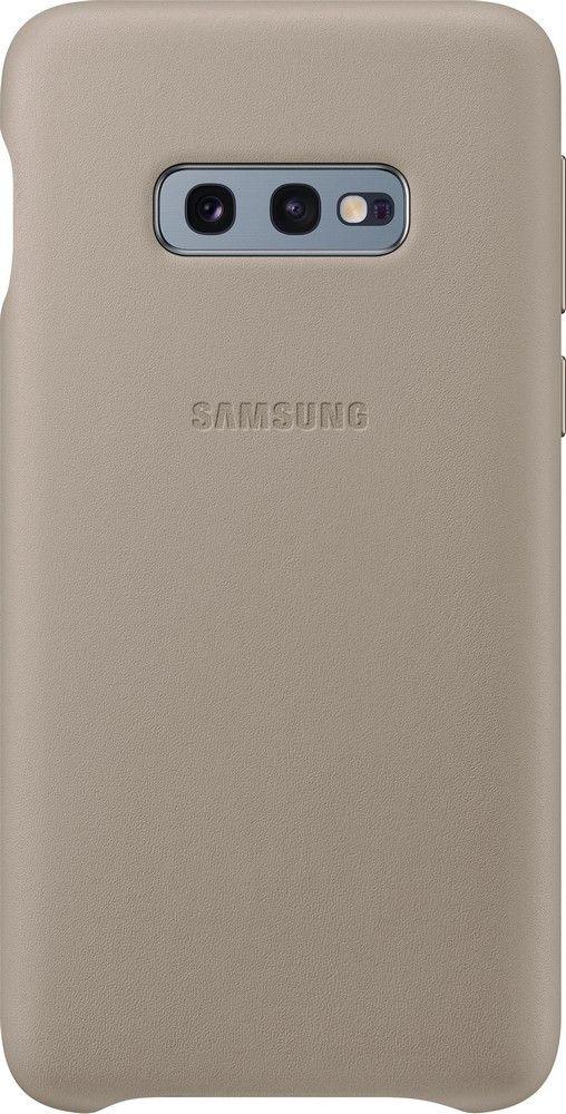 Панель Samsung Leather Cover для Samsung Galaxy S10e (EF-VG970LJEGRU) Gray от Територія твоєї техніки