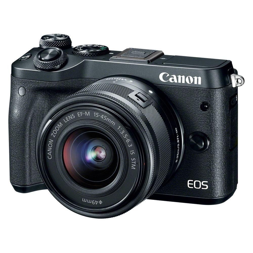 Купить Фотоаппарат Canon EOS M6 15-45 IS STM Black (1724C043)