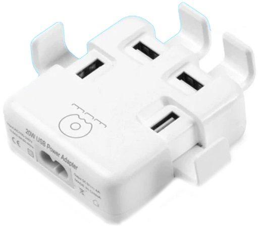 Купить Зарядные устройства, Зарядное устройство WUW Wall Charger 4xUSB 4A (WUW-C23) White