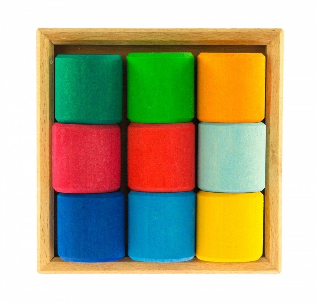 Купить Конструктор деревянный Nic Разноцветный ролик (NIC523347)