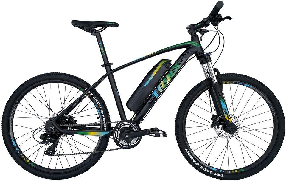 Купить Электровелосипеды, Электровелосипед TRINX E-Bike X1E 17 (X1EMBGB) Matt-Black-Green-Blue