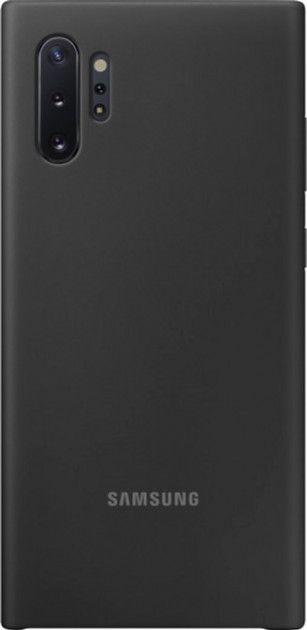 Накладка Samsung Silicone Cover для Samsung Galaxy Note 10 Plus (EF-PN975TBEGRU) Black от Територія твоєї техніки
