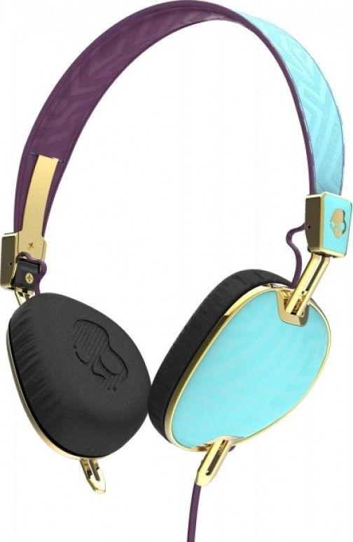 Купить Наушники Skullcandy Knockout (S5AVGM-396) Robin/Smoked Purple/Gold
