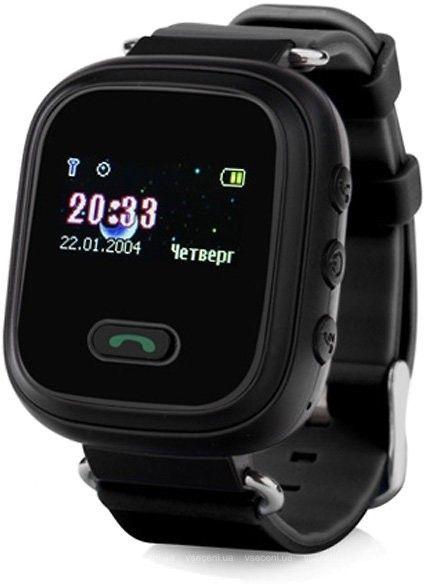 Купить Детские умные часы с GPS-трекером GW900 (Q60) Black, Smart Baby Watch