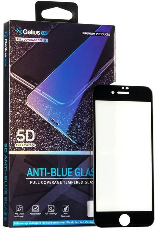 Купить Защитные стекла, Защитное стекло Gelius Pro 5D Anti-Blue Glass для Apple iPhone 7/8 (00000070950) Black