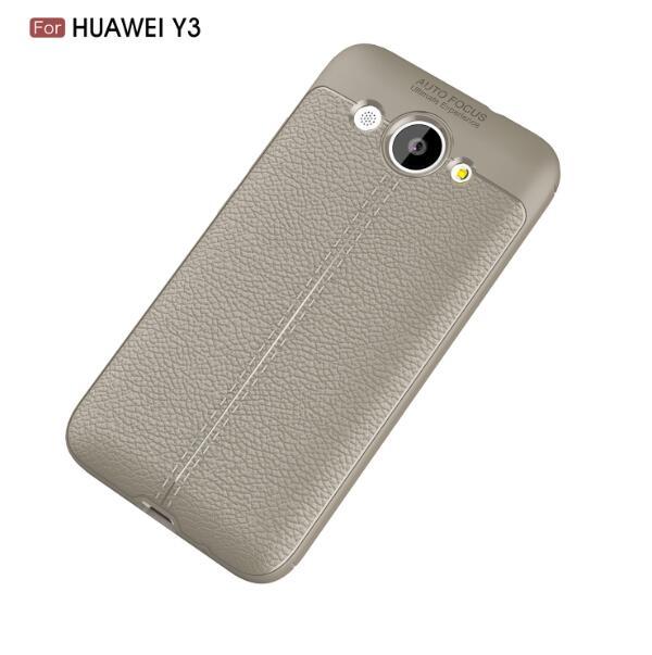 Купить Накладка TPU Leather AF Back Cover Huawei Y3 (2017) Grey, Other