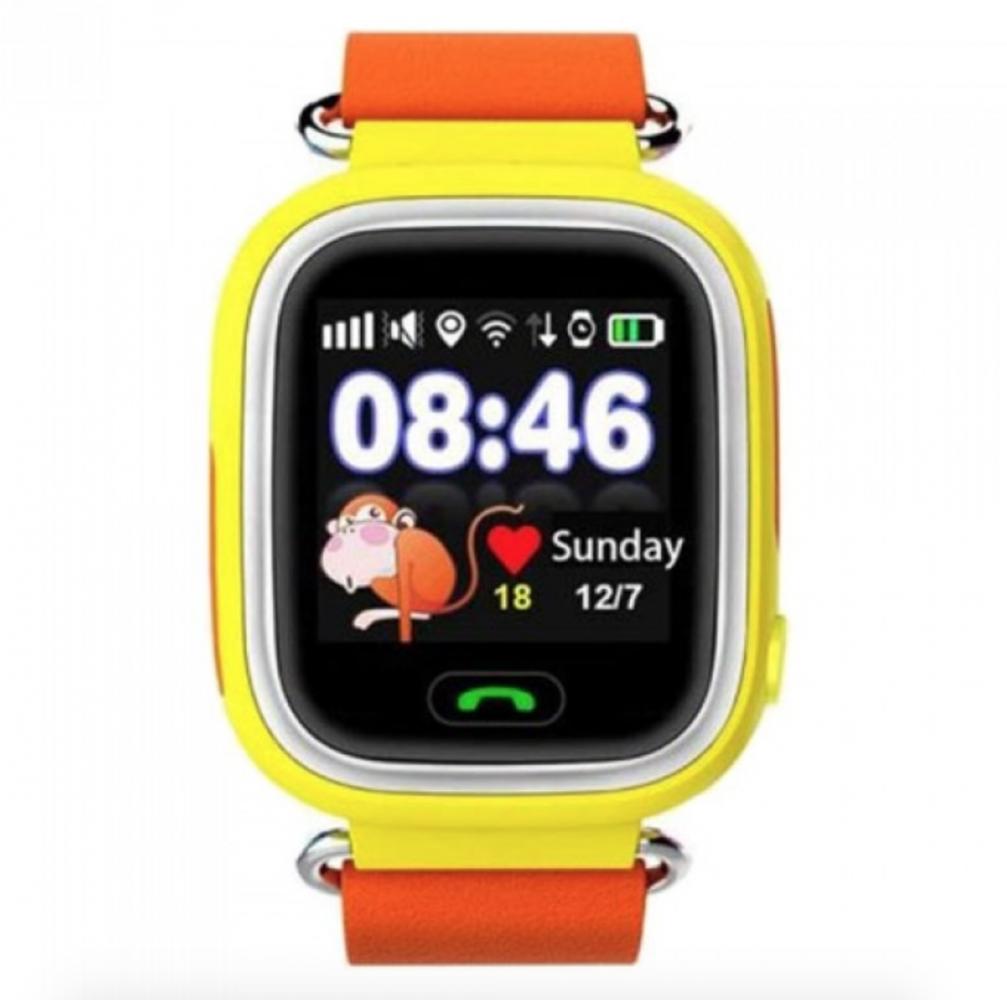 Купить Детские умные часы с GPS-трекером TD-02 (Q100) Orange, Smart Baby Watch