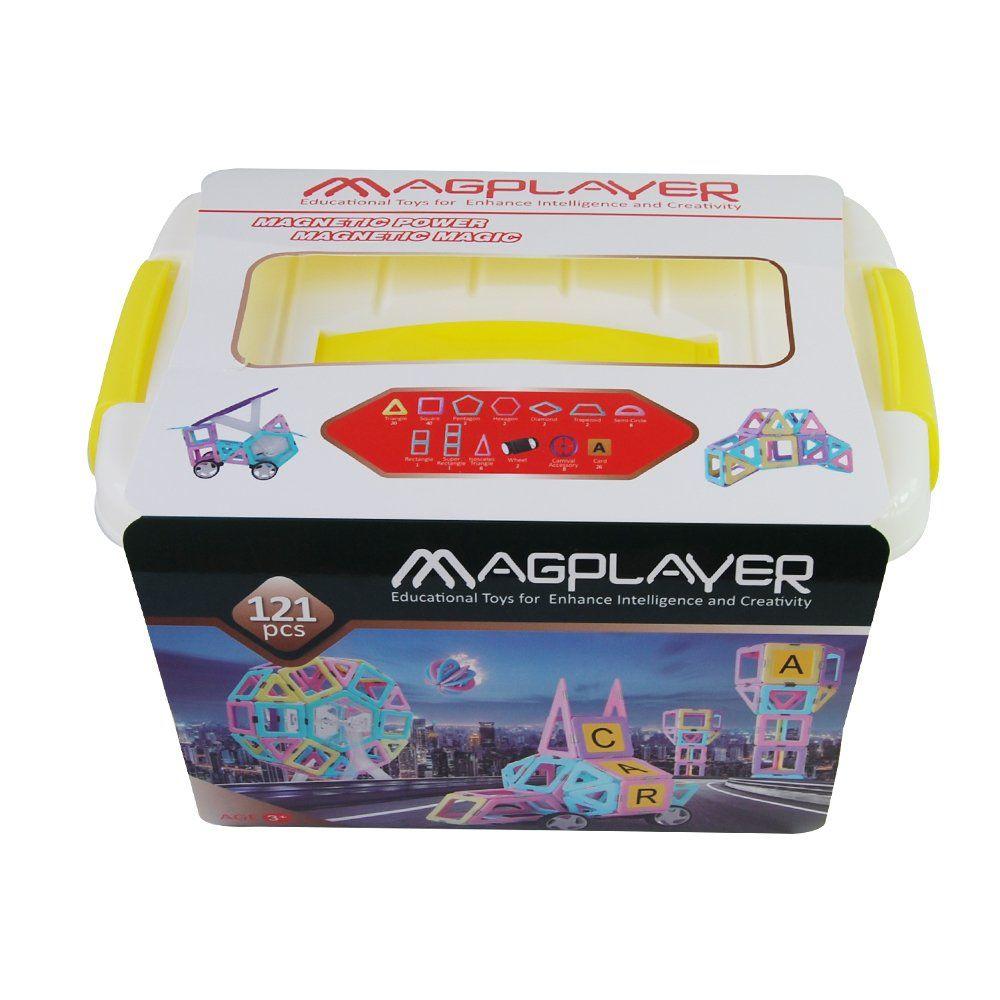 Купить Конструкторы, Магнитный конструктор MagPlayer бокс 121 эл. (MPT2-121)