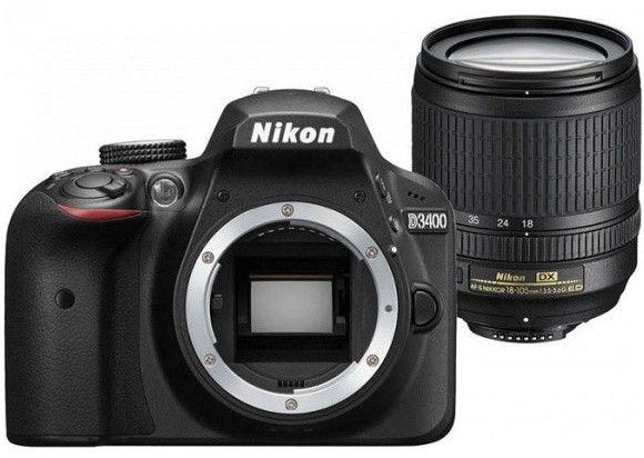 Купить Фотоаппарат Nikon D3400 AF-S 18-140mm f/3.5-5.6G VR Kit (VBA490KV01) Black