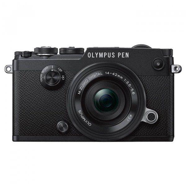 Купить Фотоаппарат Olympus PEN-F Pancake Zoom 14-42mm Kit Black (V204061BE000)