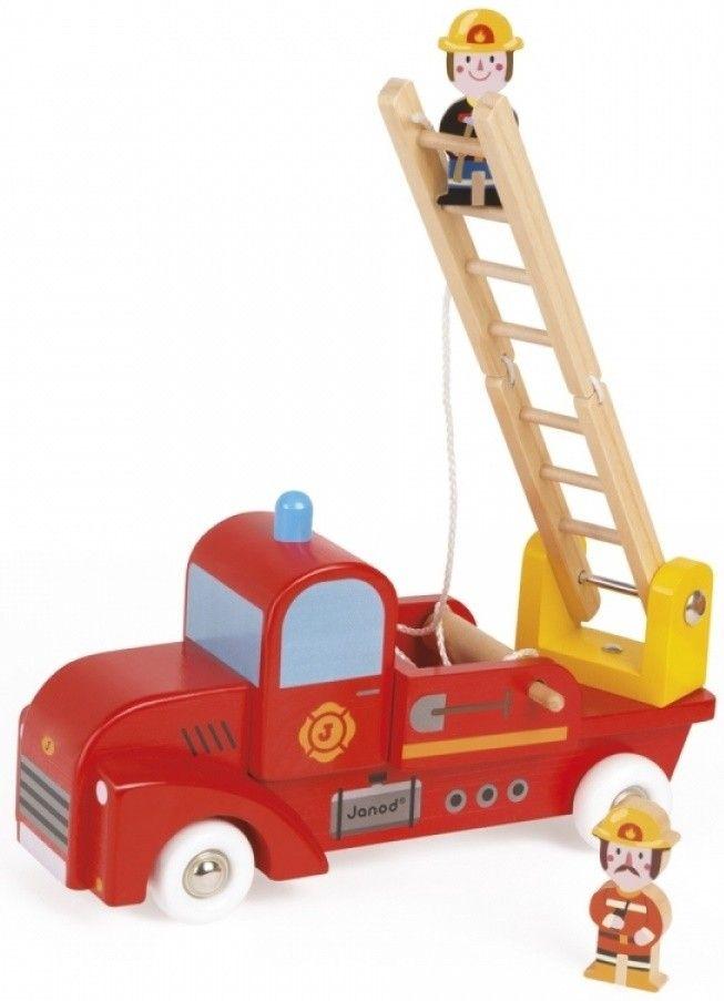 Купить Игрушечные машинки и техника, Игрушечная пожарная машина Janod Пожарный автомобиль (J08574)