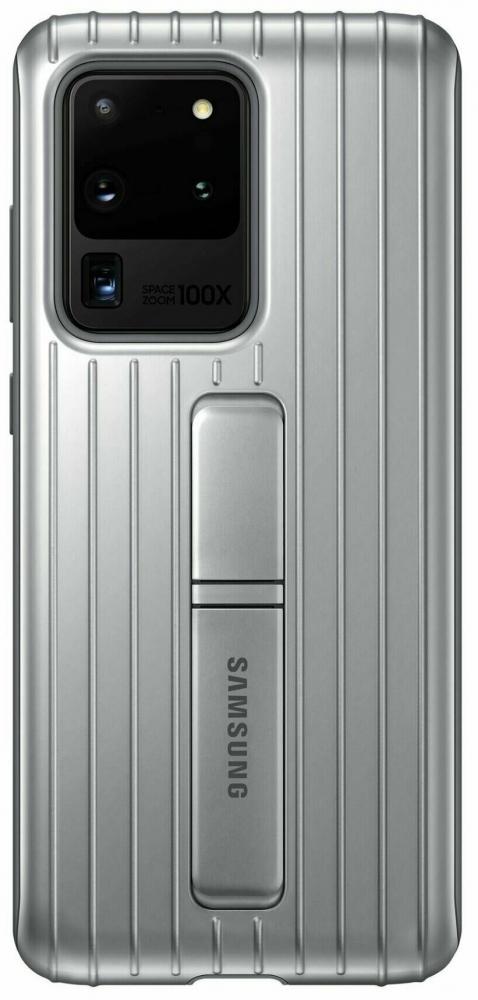 Накладка Samsung Protective Standing Cover для Samsung Galaxy S20 Ultra (EF-RG988CSEGRU) Silver от Територія твоєї техніки